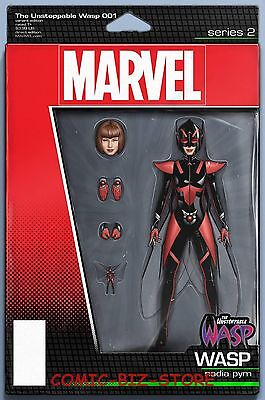 Unstoppable Wasp #1 (2017) 1St Printing Christopher Action Figure Variant Cover