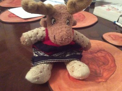 Small Christmas Reindeer Soft Plush Toy From Norway