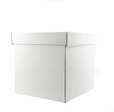 """18"""" X 18"""" X 18""""  Inch White Stacked Cake Box for Tiered Cakes"""