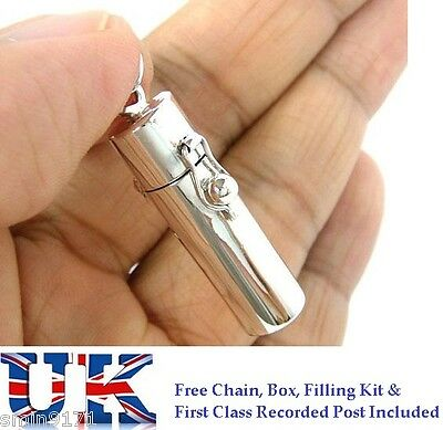 Sterling Silver Cremation Ashes Jewellery Urn Pendant Ash  Keepsake Memorial