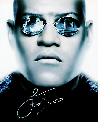 Laurence Fishburne signed autograph 10x8 with Coa