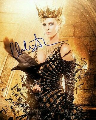 CHARLIZE THERON signed autograph 10x8 with Coa