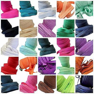 "20 yard Grab Bag 5/8"" fold over elastic FOE DIY baby headbands & hair ties"