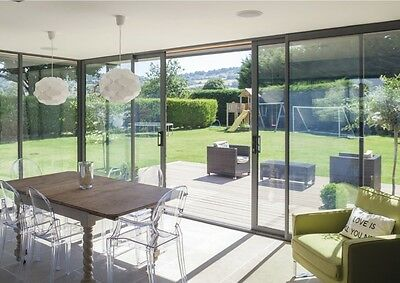 Sliding Glass Doors With Slim Line Aluminium Profile Bespoke, Made To Measure