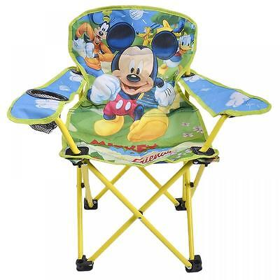 Mickey Mouse Kids Folding Chair Garden Home Disney Seat Camping Outdoor Patio