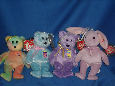 **CLEARANCE** Ty Easter Jingle Beanies Lot of  4 (H1-1)