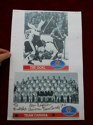 Hand Autographed Signed Team Canada 1972 GOAL PosterB ALAN EAGLESON from Bubbles