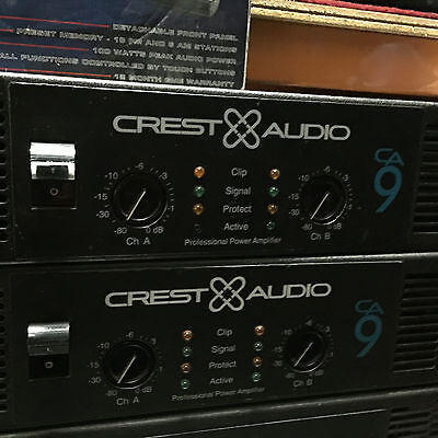 Crest CA9 Pro Audio Professional Power Amp Amplifier made in USA BEST!POST