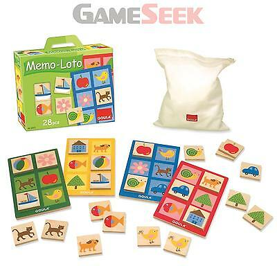 Goula Memo Lotto Wooden Game - Toys Brand New Free Delivery