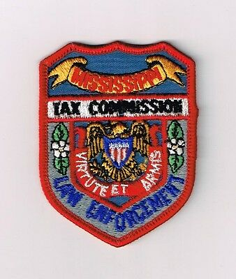 Mississippi Tax Commission Law Enforcement Police Shoulder Small Patch