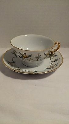 Richard Ginori Italy Cup and Saucer Excellent Condition. Gold Rimmed.