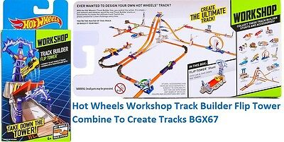 Hot Wheels Workshop Track Builder Flip Tower Combine To Create Tracks BGX67