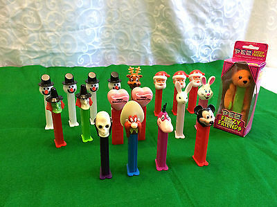 Pezz Dispensers Vintage Mixed Lot of 19 Holiday and Character
