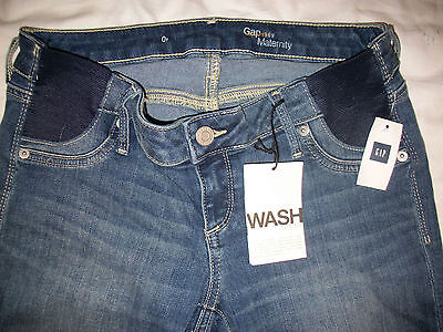 GAP 1969 Maternity Inset Panel True Skinny Authentic Vintage Jeans Women 25 0