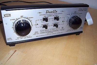 HAMMANT & MORGAN H&M Duette twin track controller/transformer 12vDC*Tested*BOXED