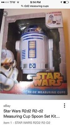 STAR WARS R2-D2 Droid Measuring Cups Spoons 9PC Set Kitchen Homeware Utensil NEW