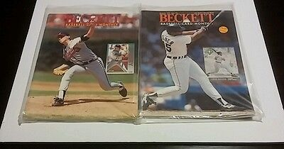 Lot Of 12 Beckett Baseball Monthly 90-93 Price Guides