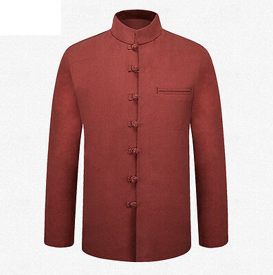 Brand New Arrival Solid Autumn Winter Chinese Men's  Kung Fu Jacket Coat M-3XL