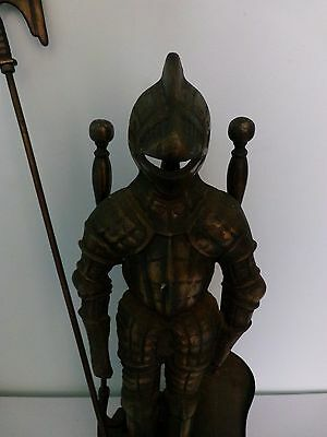 Large Vintage Knight Fire Stand With Tools  Terrific Condition
