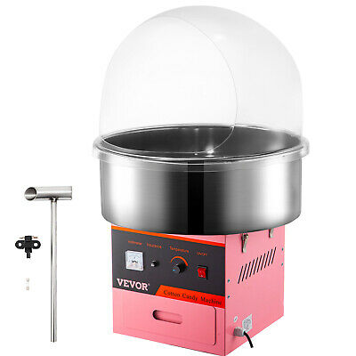 New Electric Sugar Floss Machine Commercial Cotton Candy Maker Pink + COVER