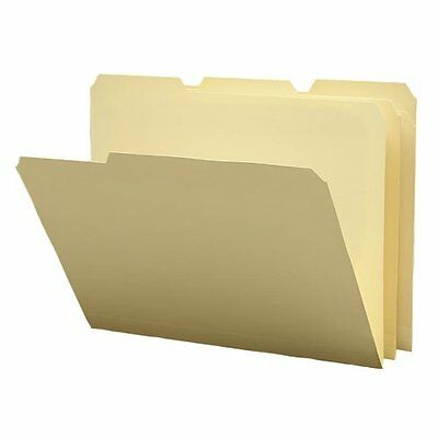 Smead Poly File Folder, 1/3-Cut Tab, Letter Size, Manila, 12 per Pack 10510