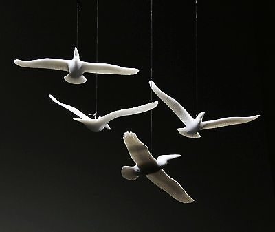 FOUR PELICAN MOBILE Sculpture New Direct from JOHN PERRY 6in wingspan Statue Art