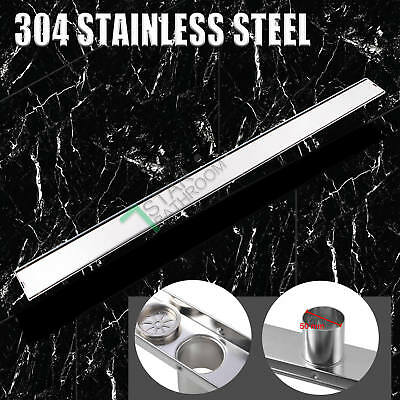 900mm Shower Grate Drain Floor Waste Linear Home 304 Stainless Steel FAST Flow