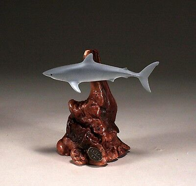 MAKO SHARK Sculpture New direct from JOHN PERRY 7in tall Statue on Wood