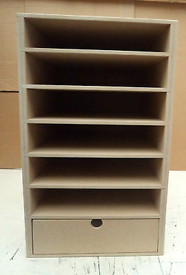 Hand Crafted Large Freestanding A4 Mdf Paper Storage unit with drawer