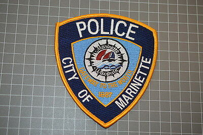 City Of Marienette Wisconsin Police Patch (T3)