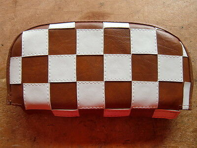 Brown/ White Check Scooter Back Rest Cover (Purse Style)