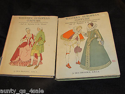 Rare printing books Western European Costume & relation to Theatre colour plates