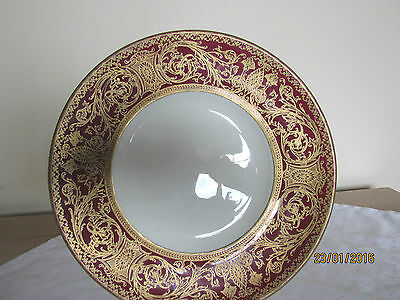 Royal Worcester Embassy Pattern-Maroon & Gold-Decorative Plate C.1957