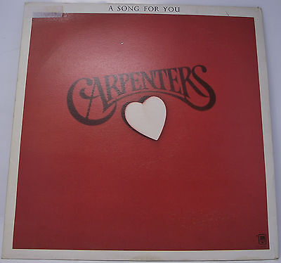 "THE CARPENTERS : A SONG FOR YOU Vinyl LP 12"" 33rpm VG"