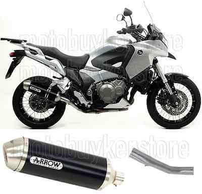 Arrow Muffler Exhaust Racetech Aluminium Black Honda Crosstourer 1200 2013 13