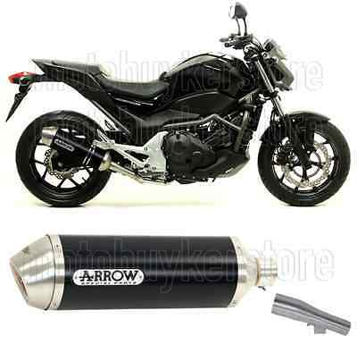 Arrow Kit Muffler Exhaust Racetech Aluminium Black Honda Nc 700 S 2013 13