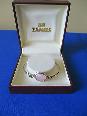 Gift Girls Silver & Mother of Pearl Shell Bangle in a  Box