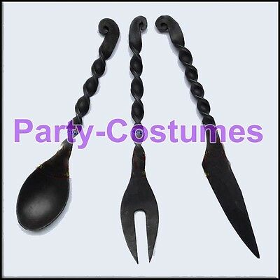 Medieval Style Cutlery Set - Ideal For LARP / Re-Enactment Events Hand Forged