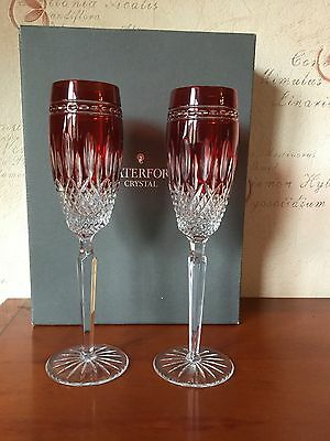 Waterford Crystal Clarendon Ruby Flutes