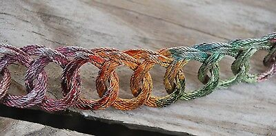 1930s Rainbow Metal Looped Belt with Detachable Clasp