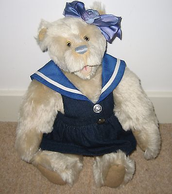 """Christine Pike 14"""" Cotswold Mohair Artist Teddy Bear Limited Edition of 100"""