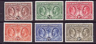 Cayman Islands George V 1932 Centenary part set. mounted mint. sg