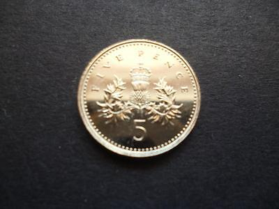 1996 BRILLIANT UNCIRCULATED FIVE PENCE PIECE 1996 5p COIN UNCIRCULATED CONDITION