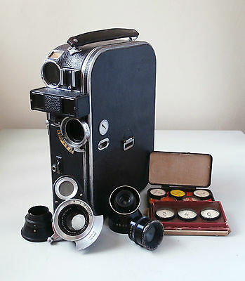 Zeiss Ikon Movikon 16mm Movie Camera with Carl Zeiss Jena Sonnar 2,5cm f1.4 Lens