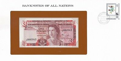 Gibraltar - 1 Pound 1975 UNC P. 20a Banknotes of all Nations Lemberg-Zp