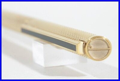 Exclusiv DUNHILL ball point pen in 24K gold plated with black china lacquer clip