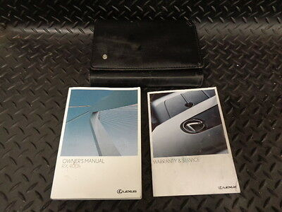2008 LEXUS RX 400h 3.3 SE 5DR CVT AUTO OWNERS MANUAL/HANDBOOK WITH COVER