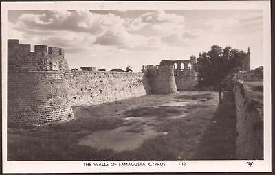 "Cyprus 1950's ""the Walls Of Famagusta"" Real Photo Mint Postcard!!"