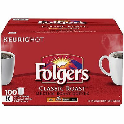 Folgers Classic Roast Medium Roast Coffee 80 K-Cups for Keurig Brewer