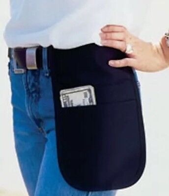 Cocktail Waiter Waitress Side Apron Money Pouch Black Fits Small Tablet